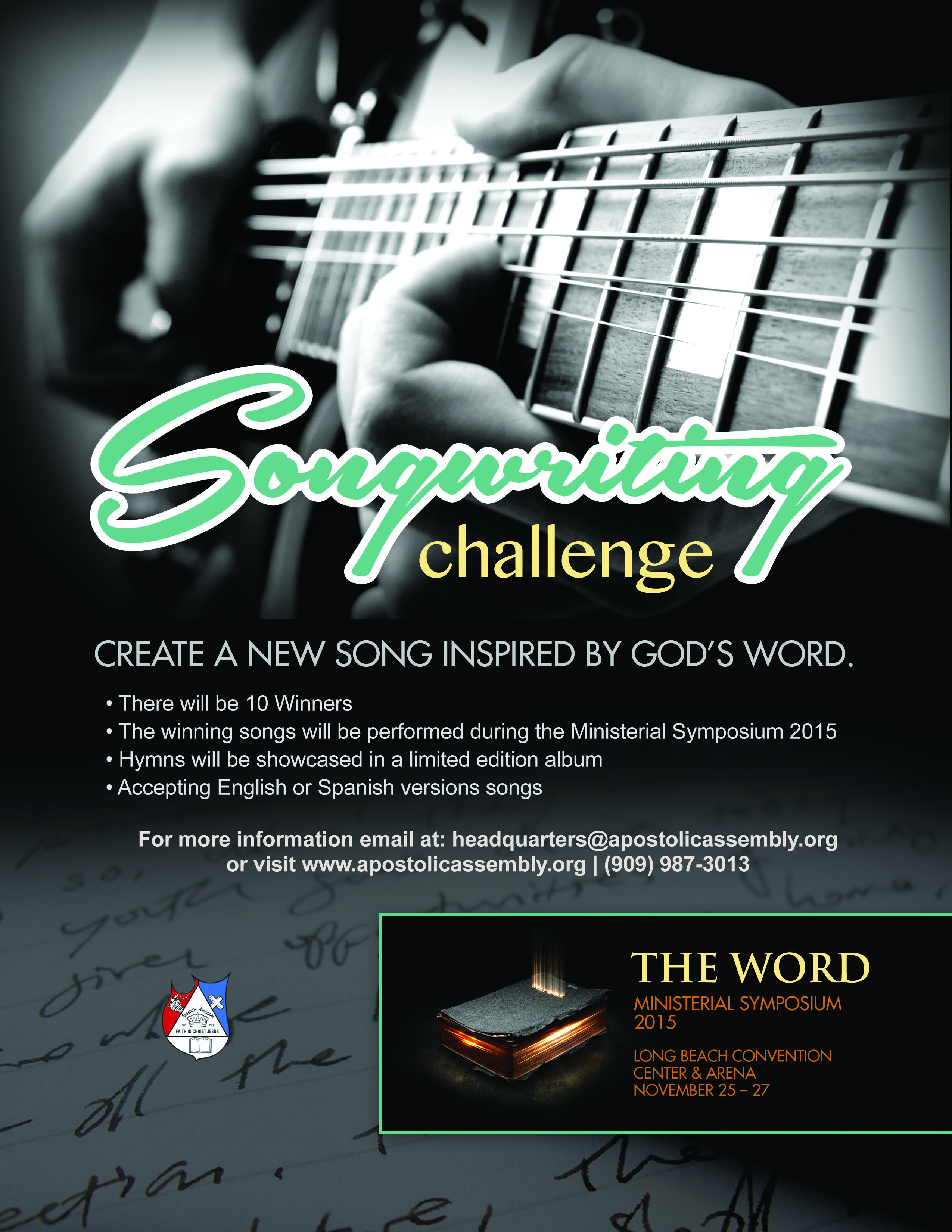 songwriting poster